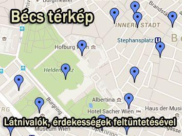 bécs látnivalók térkép Bécs / Wien utazás nyaralás info bécs látnivalók térkép