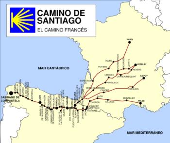 Camino térkép