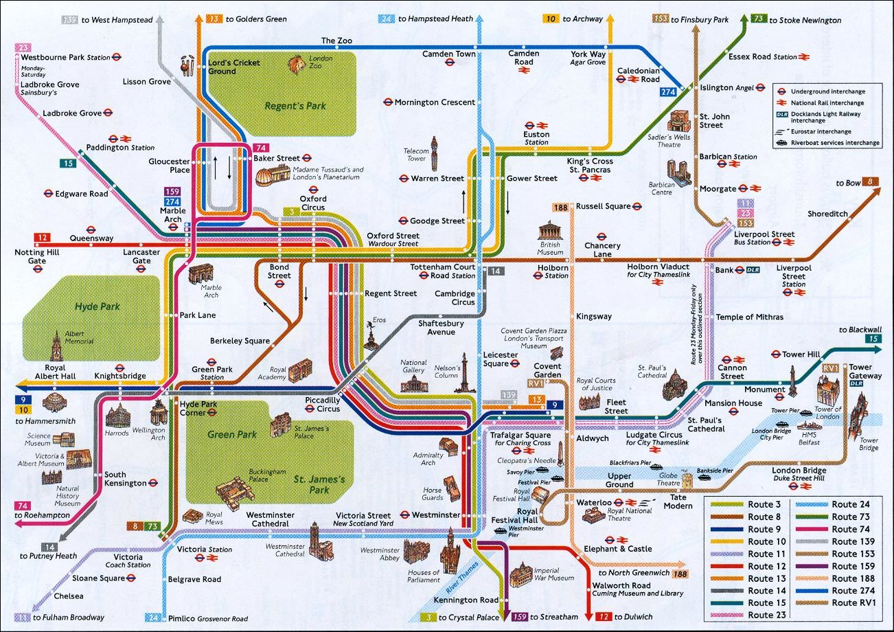 london látnivalók térkép Europai látnivalók: London london látnivalók térkép