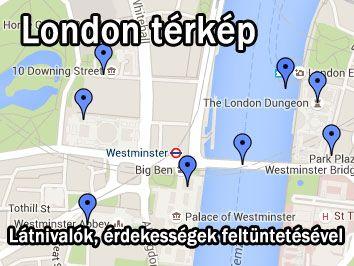 london látnivalók térkép London   utazás nyaralás info, szállás 2018 london látnivalók térkép