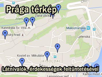 prága térkép Prága utazás nyaralás info prága térkép